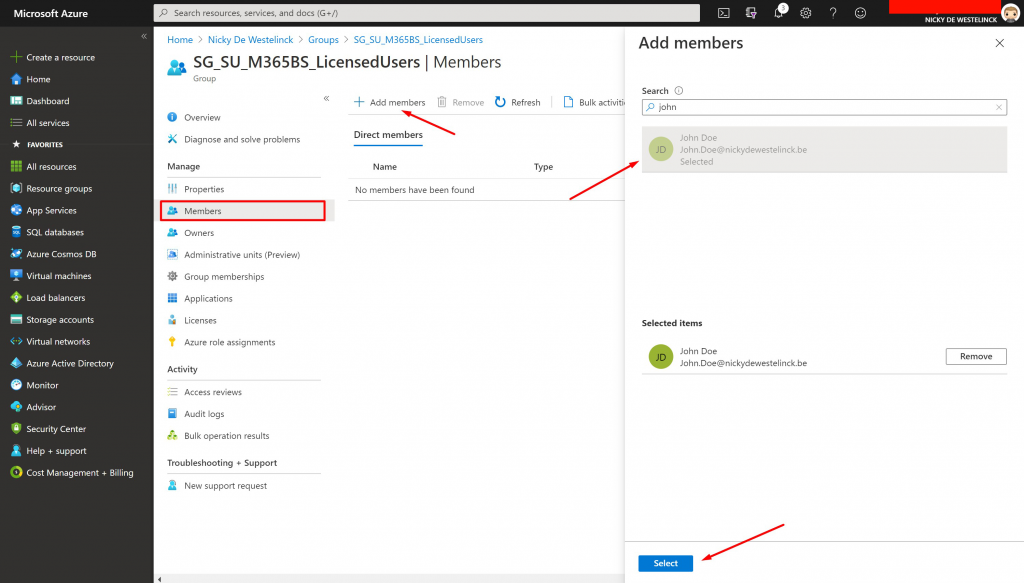 create-azure-active-directory-license-group-microsoft-365