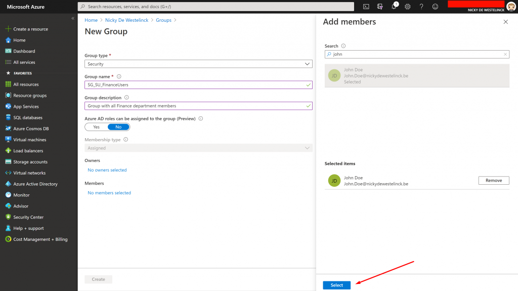 create-an-azure-assigned-user-group