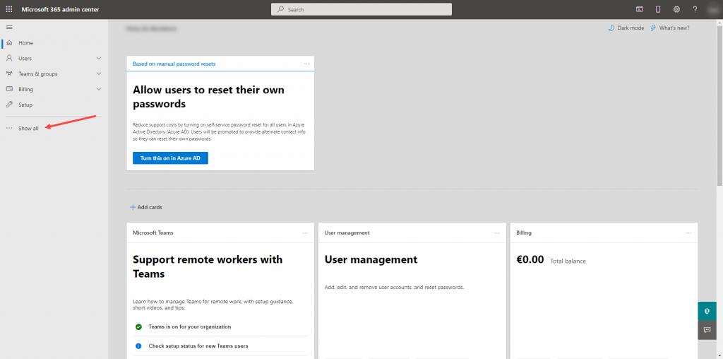Microsoft 365 Admin Center - Add Domain